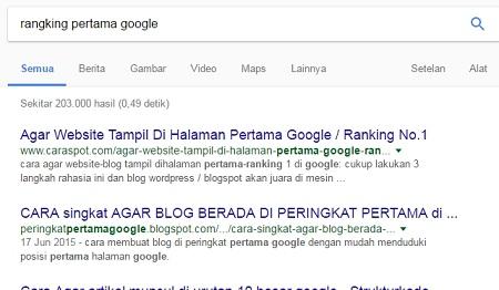 peringkat blog turun di google