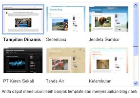 cara memilih template blog bisnis online