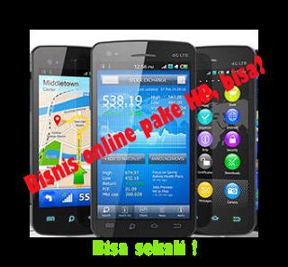 bisnis online menggunakan ponsel