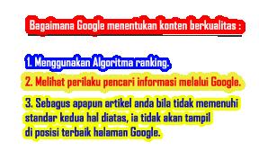 artikel berkualitas menurut google