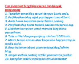 tips membuat blog b