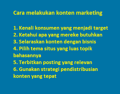 strategi konten marketing