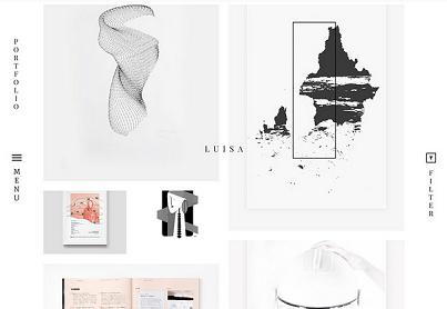 theme luisa untuk grafik desainer